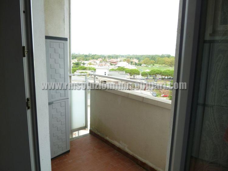 Tre locali con bellissima vista fronte mare in appartamento a 40 mt dalla spiaggia ai Lidi Ferraresi - il balcone della cameretta